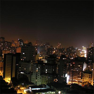 new york city skyline at night wallpaper. São Paulo Skyline at Night